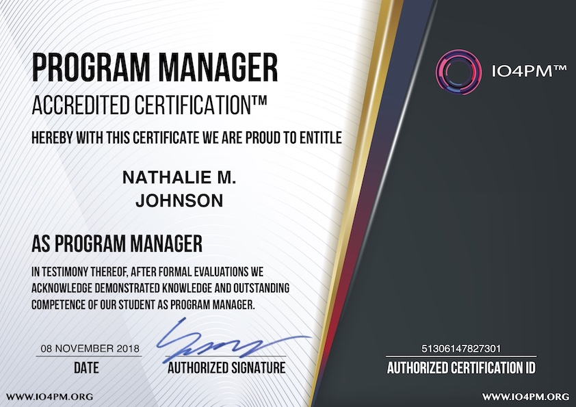 What Is Usd 99 Program Manager Accredited Certification Program